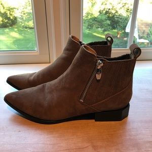 Sigerson Morrison Bambi Booties, brown suede